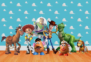 Toy Story Backdrop Disney Pixar Baby Shower Backdrop Birthday , Kids Party Photography Background