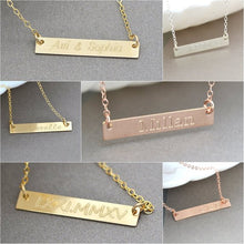 Personalized Name Bar Necklace ,  Custom Name or Initial Bar Necklace, Your name Necklace