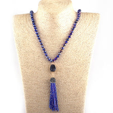 Long Druzy Tassel Glass beads Necklace