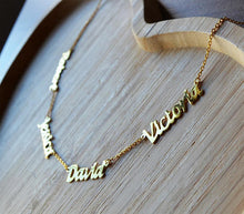 4 Personalized Monogram Family Members Names Necklace