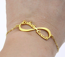 Delicate Infinity Names Customized Chain Bracelet Graduation Gift