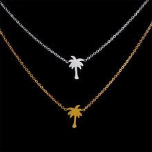 Tiny Palm Tree Dainty Charm Chain Necklace