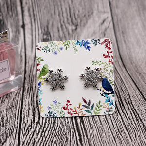 100Pcs/lot White leaves design Earring Cards, Jewelry Display Cards Tags