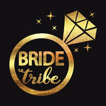 10ps STYLISH TEMPORARY TATTOO TEAM BRIDE GOLD