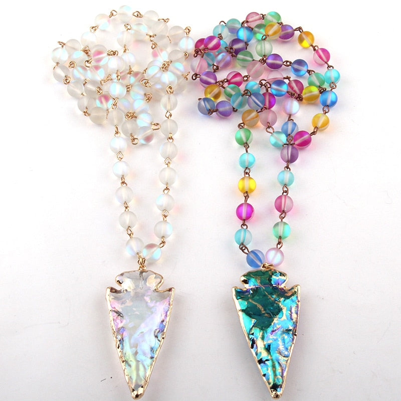 Sparkling Beautiful Arrowhead Crystal Pendant with lovely Color