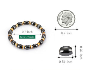 Magnetic Healthcare Bracelet Weight Loss Magnetic Therapy Round Stone Bracelet