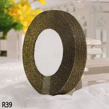 Sparkling Glitter Metallic Gold Ribbon For Gift Wrapping Birthday Hair Bows Floral Projects