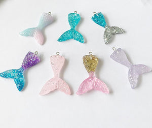 HOT Sparkling Mermaid Pendant|10 pcs  DIY Earring Dangle Accessories for Necklace & Key Charm