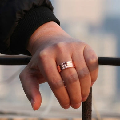 Magnetic Weight-Loss Ring Stimulating Keep Fit Fat-Burning Slimming Ring Fitness Therapy Health Care Rose Gold
