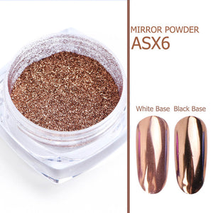Luxury Shining Mirror effect Mix glitter Magical Powder for Nail Art and design