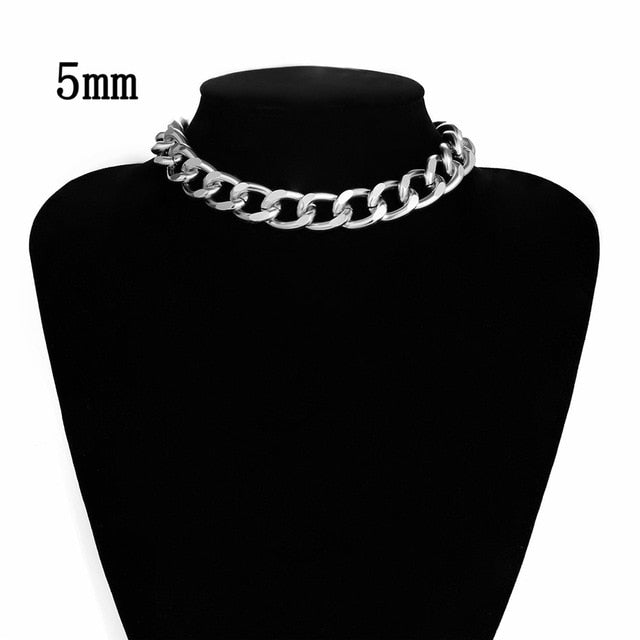 Sexy Cuban Choker Chain Necklace Silver Gold Gift for Her