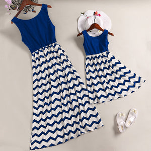 Mother Daughter Family Matching Outfits Mommy and Me Summer Sundress Clothing