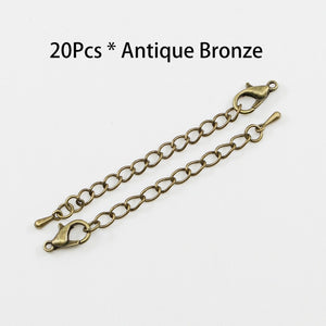 20pcs/lot  Chain Extender Jewelry Necklace Lobster Clasps and Closures for Necklace DIY Findings