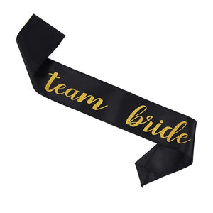 Bride to Be Team Bachelorette Party Bridal Shower Supplies penis banner photo prop veil sash
