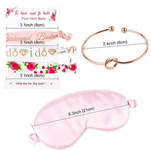 Bridesmaid Gifts Bachelorette Party Supplies Set  Knot Bracelet Hair Tie Eye Mask Bridesmaid Gifts