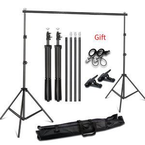 Aluminum Photography Backdrop Support System Heavy Duty Adjustable Backdrop Stand, with Carrying Bag