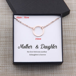 Unique Mother Daughter THE LOVE BETWEEN MOTHER& DAUGHTER IS FOREVER Necklace Gift Box