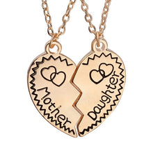 Special Gifts for Daughter and Mom Split broken heart set 2 Engraved necklaces