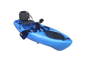 BKC UH-PK11 Pedal Drive Solo Rover 10-Foot 6-Inch Solo Kayak Propeller-Driven Sit On Top Single Fishing Kayak with Pedal Drive, Rudder System, Paddle, and Seat Included