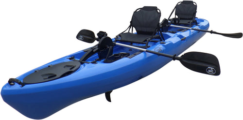 BKC UH-PK14 14 foot Sit On Top Tandem Fishing Pedal Drive Kayak Upright Seats included