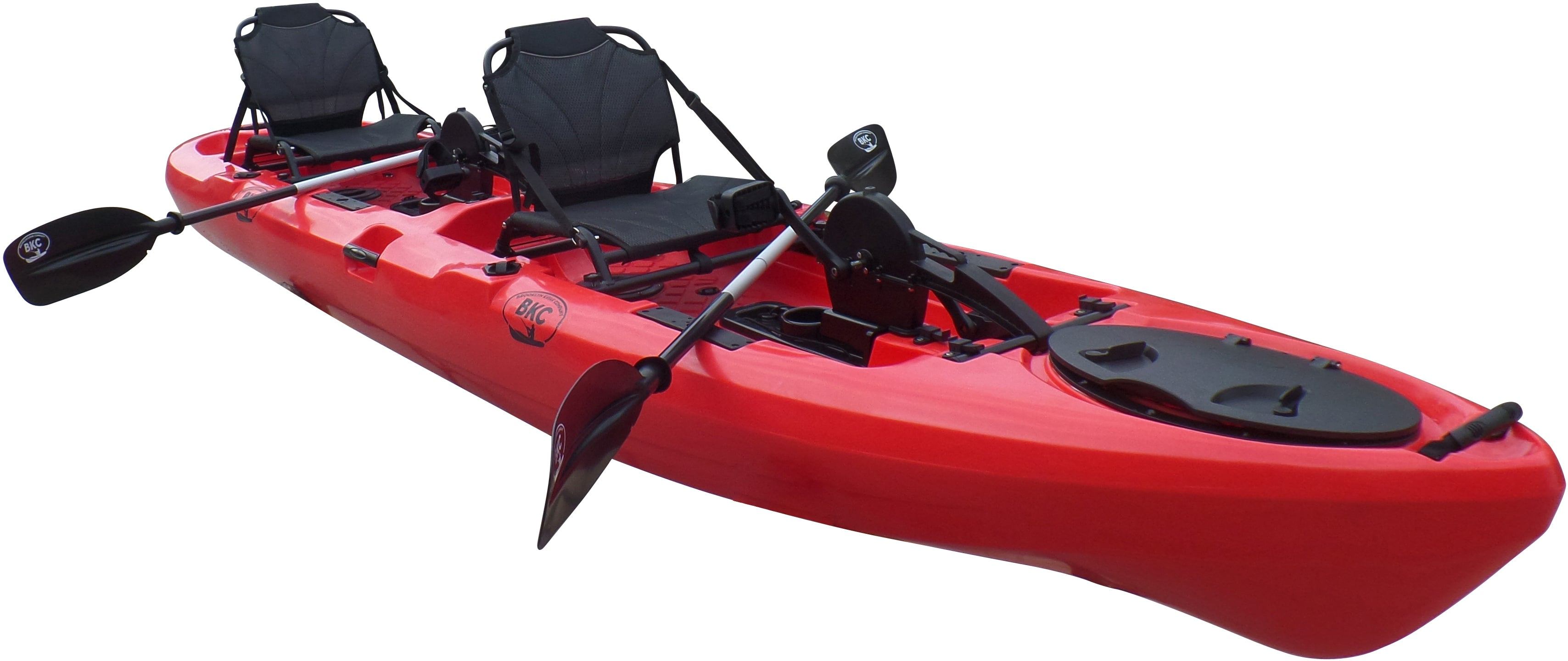 Bkc Uh Pk14 14 Foot Sit On Top Tandem Fishing Pedal Drive Kayak Upright Seats Included