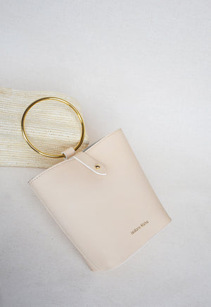 Iza mini handbag nude