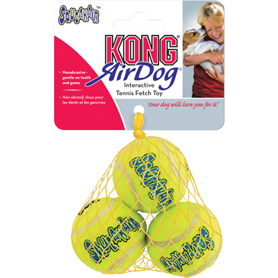 KONG Air Squeaker Tennis Ball 3pk