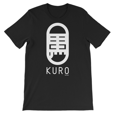 KURO Brand Kanji Logo Women's Black Loose-fit T-shirt