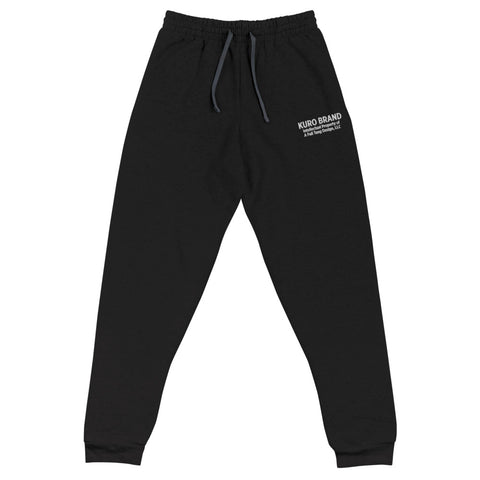 Basics Cozy Embroidered Unisex Joggers (Black/ Heather Gray)