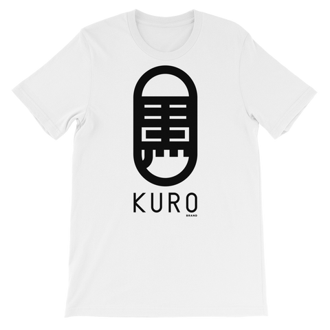 KURO Brand Kanji Logo Women's White Loose-fit T-shirt