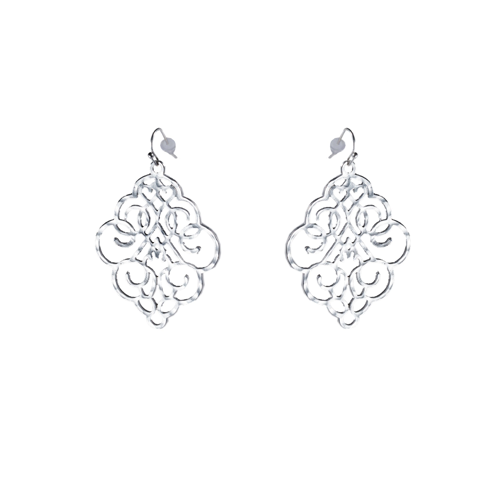 pin large in filigree made sterling earrings israel silver
