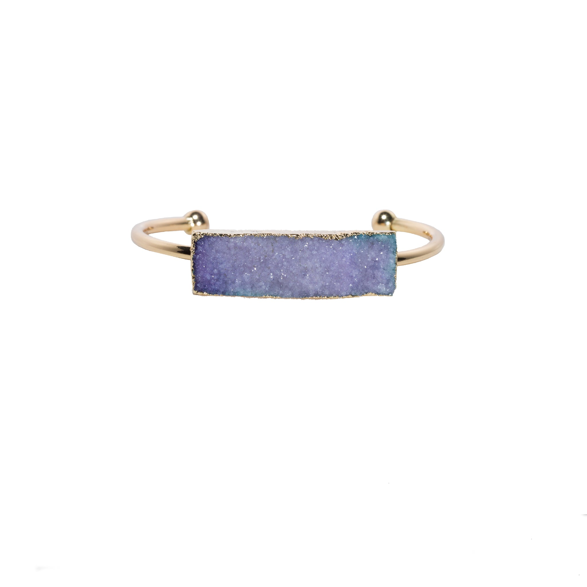 purple quartz cuff bracelet