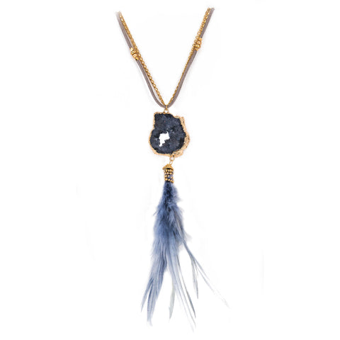 Ivy Feather Quartz Necklace