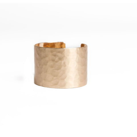 gold hammered cuff bracelet