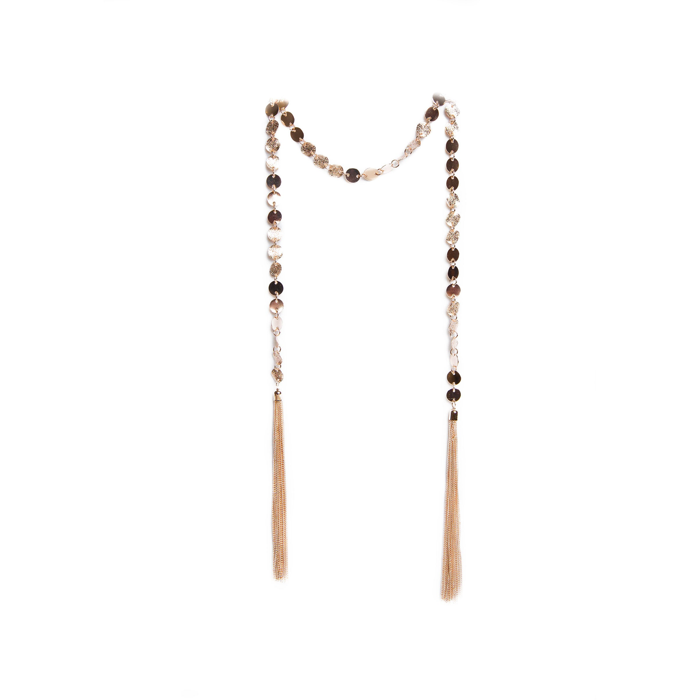 gold wrap lariat necklace