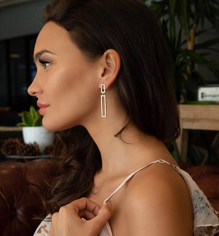 Delilah Double Bar Earrings