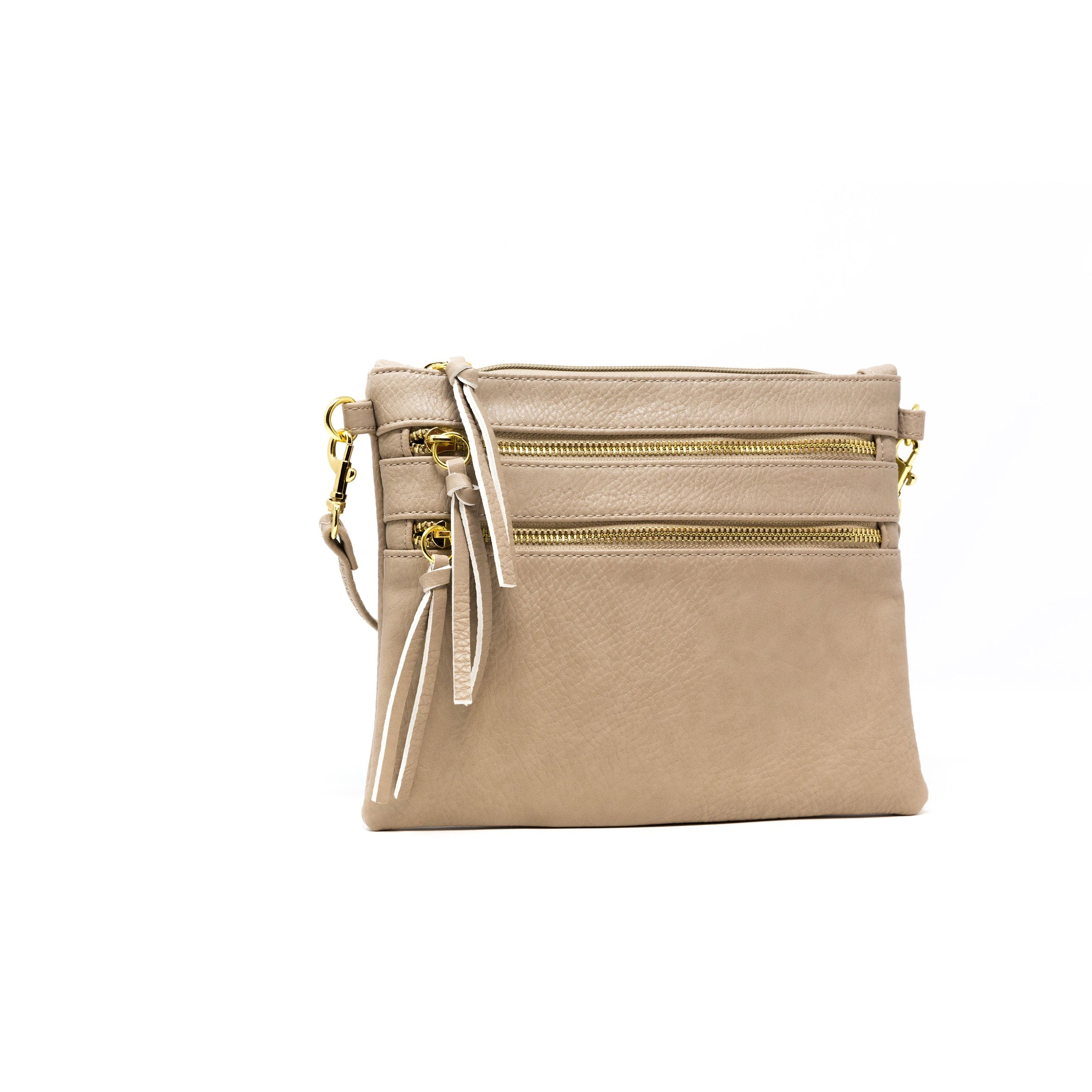 vegan leather beige crossbody bag