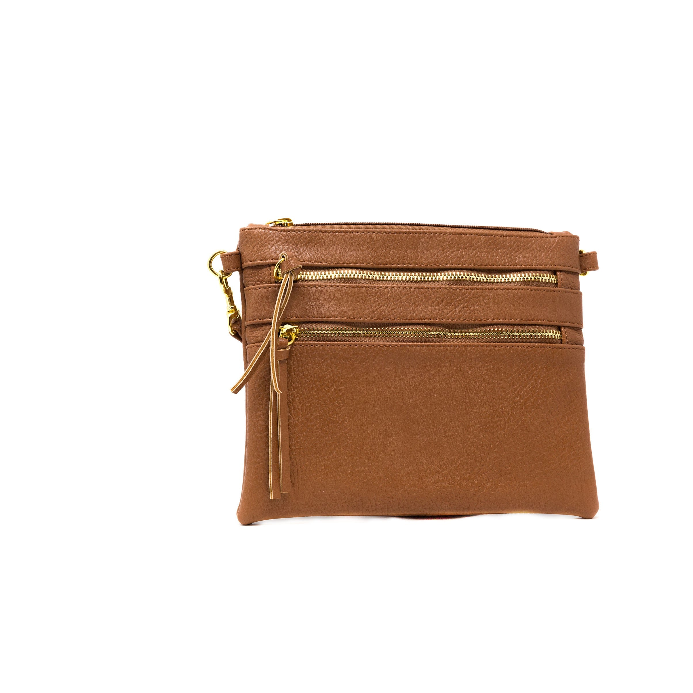 vegan leather tan crossbody bag