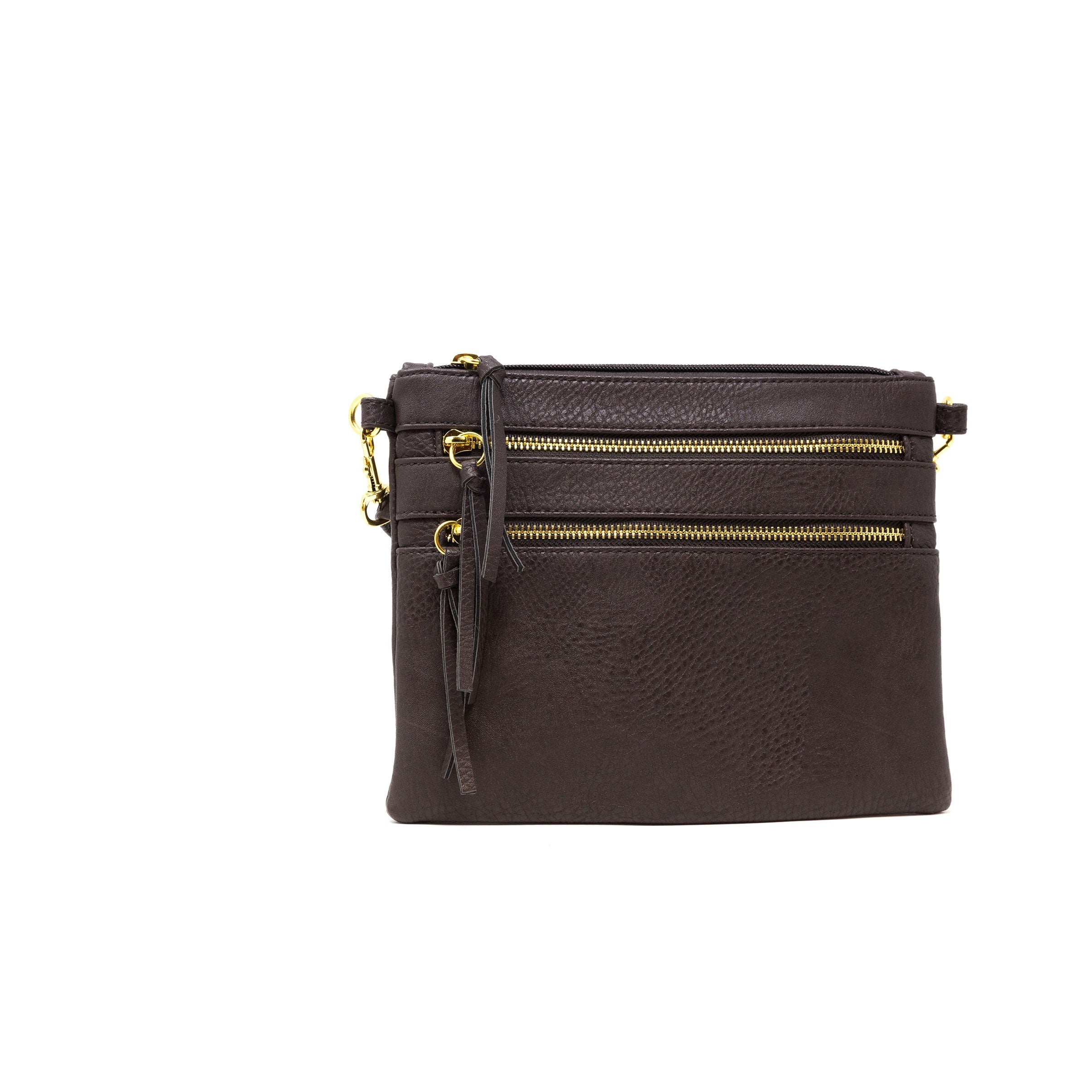vegan leather brown crossbody bag
