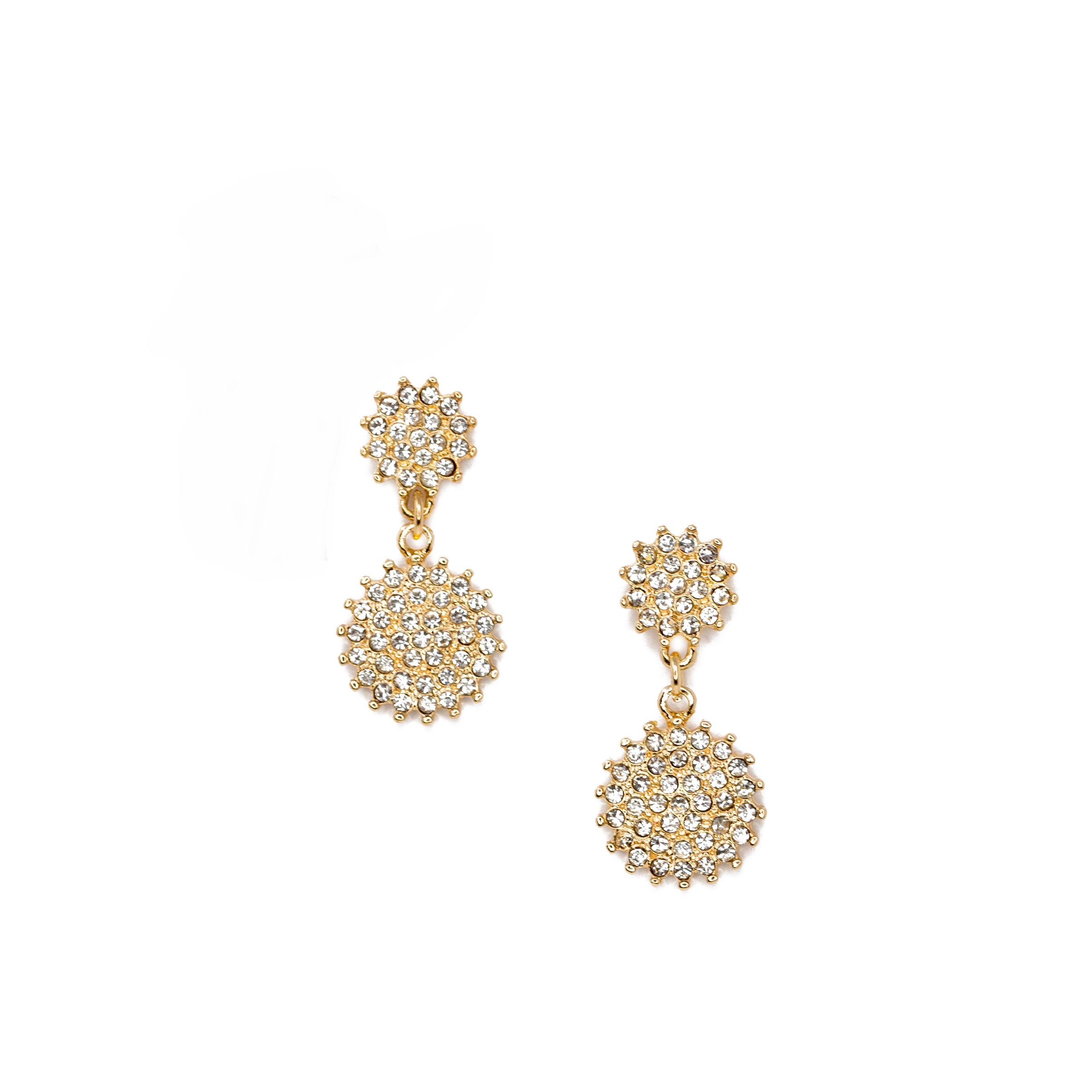 gold starburst drop earrings
