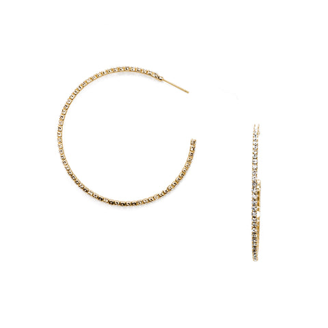 Giselle CZ Gold Hoop Earrings
