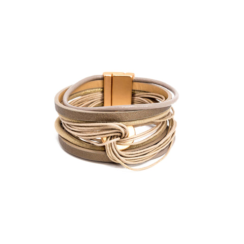 Entangled Leather Cuff Bracelet