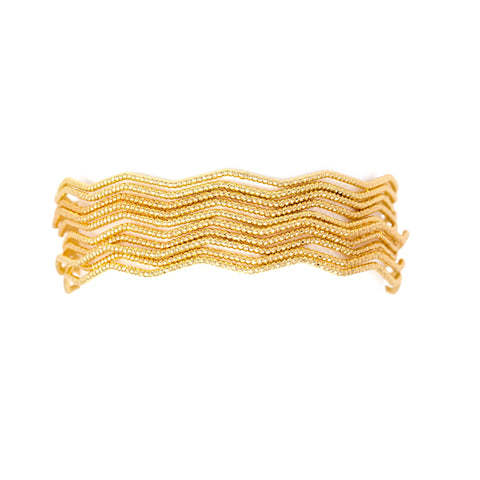 stackable gold beaded bangles