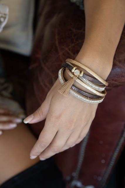 Multimedia Multi Layered Wrap Bracelet