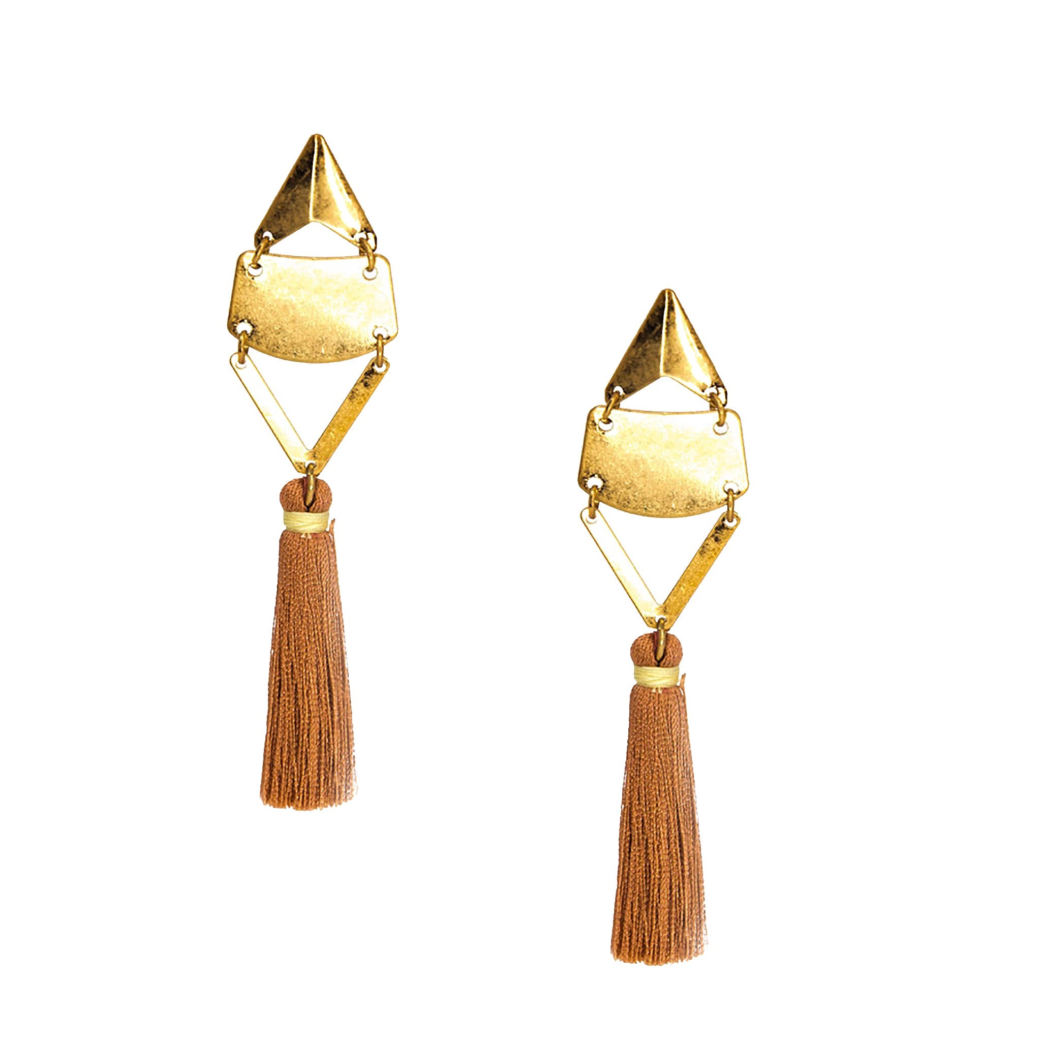 rose retro tassel earrings