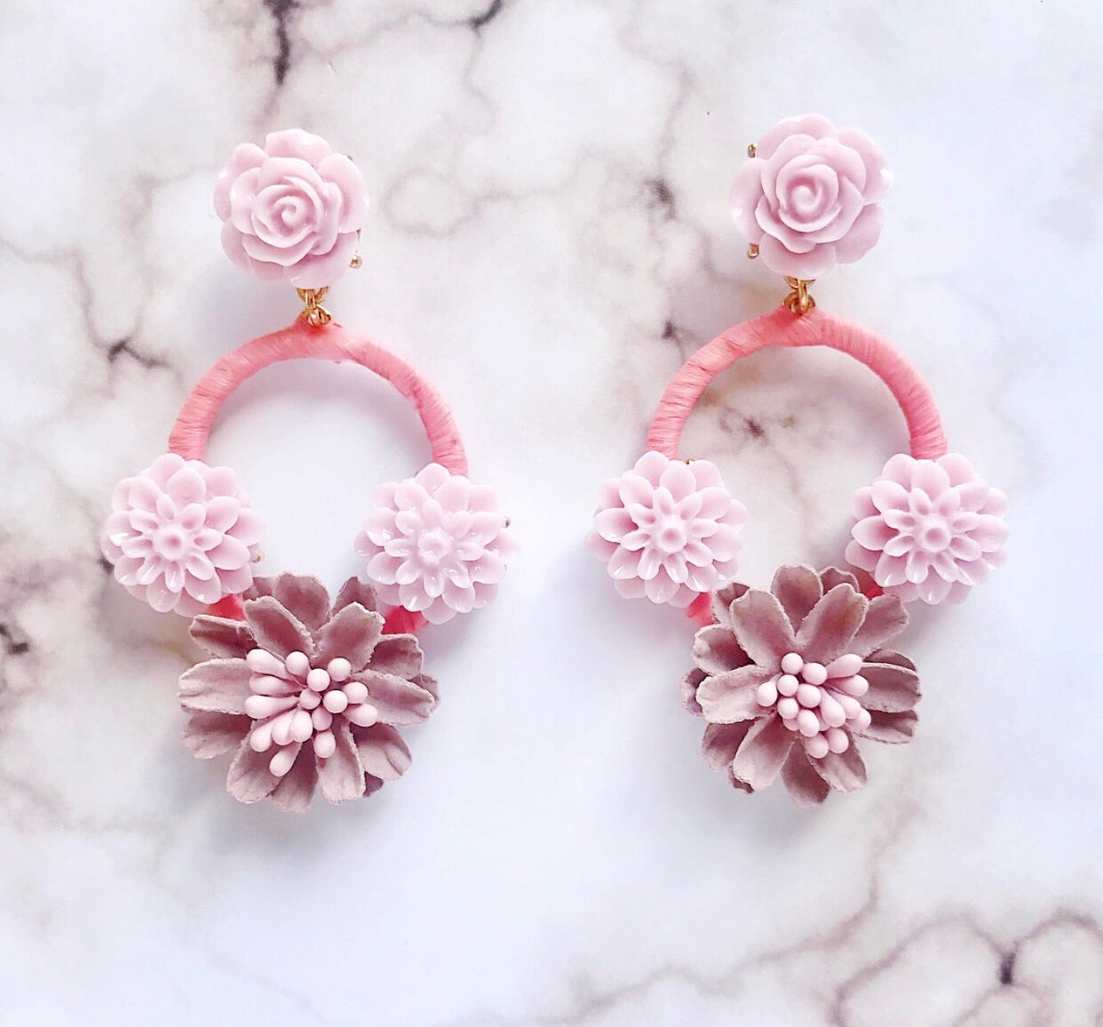 Dixie Floral Chandelier Earrings