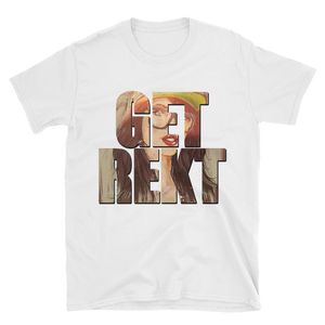 GET REKT (Block Design) Short-Sleeve Unisex T-Shirt