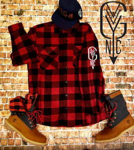 Logo Flannel Button Down