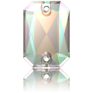 Swarovski® Sew On Crystals: Emerald Cut 3252 AB - Glitz It
