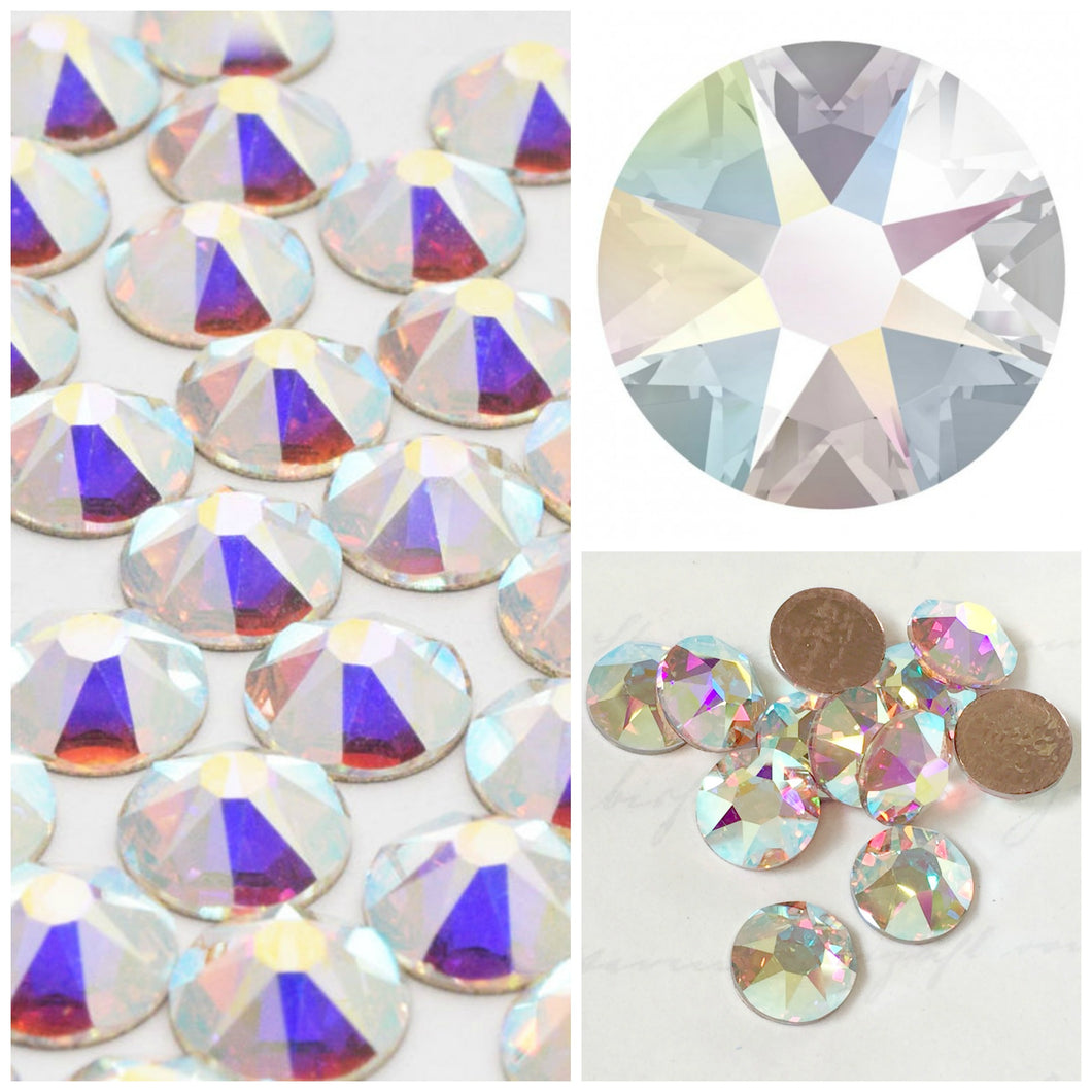 Swarovski® 2058 Small Pack Glue On Crystals: SS5 AB - Glitz It